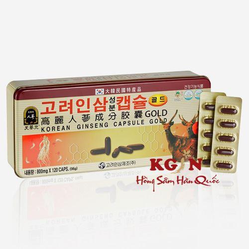 Viên đạm sâm nhung linh chi Hàn Quốc