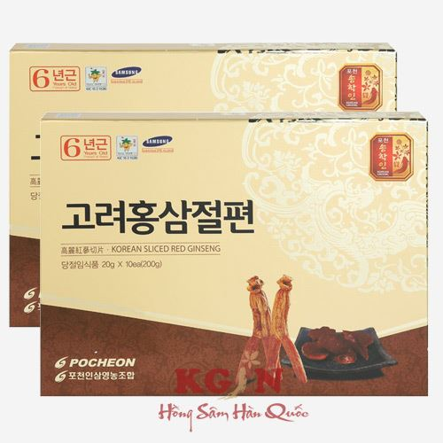 Hồng sâm thái lát tẩm mật ong Pocheon